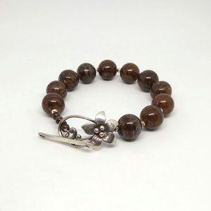 Silpada Bronzite bracelet